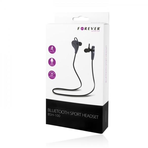 Belaidė laisvų rankų įranga Forever BSH-100, Bluetooth, Juoda