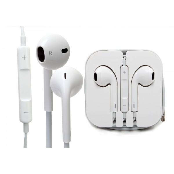 Ausinės Apple iPhone 5G / 5S / 5C / 6 / 6 Plus Originalios Baltos