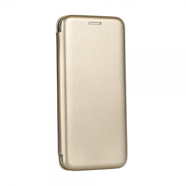 """Atverčiamas dėklas Apple Iphone X """"Book Elegance"""" Auksinis"""
