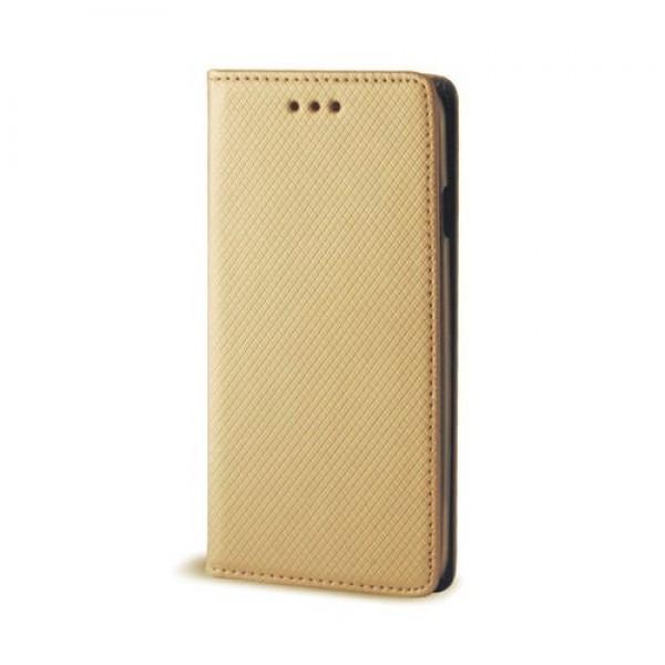 Atverčiamas dėklas Smart Magnet Samsung Galaxy S7 Edge G935F Auksinis
