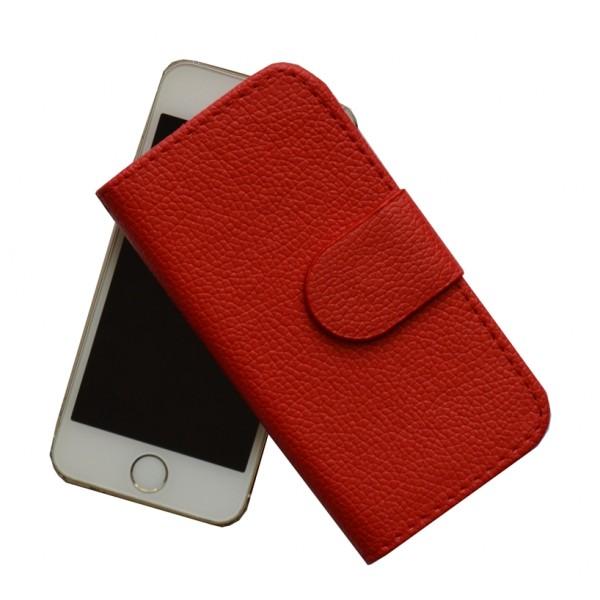 Atverčiamas dirbtinės odos dėklas Apple Iphone 5 / 5S Raudonas