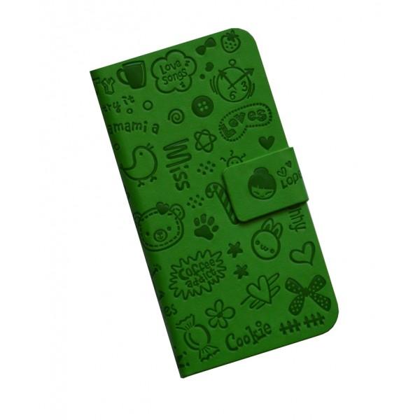 Atverčiamas Cockie dėklas Apple Iphone 4 / 4S Žalias