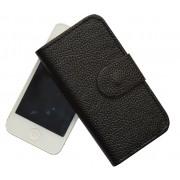 Atverčiamas dirbtinės odos dėklas Apple Iphone 5 / 5S Juodas