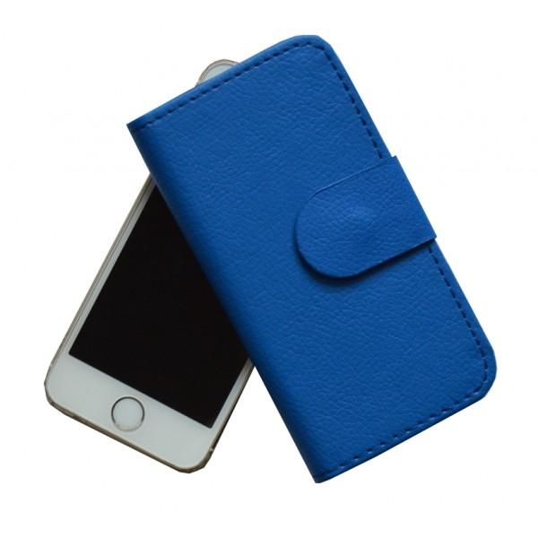 Atverčiamas dirbtinės odos dėklas Apple Iphone 5 / 5S Mėlynas