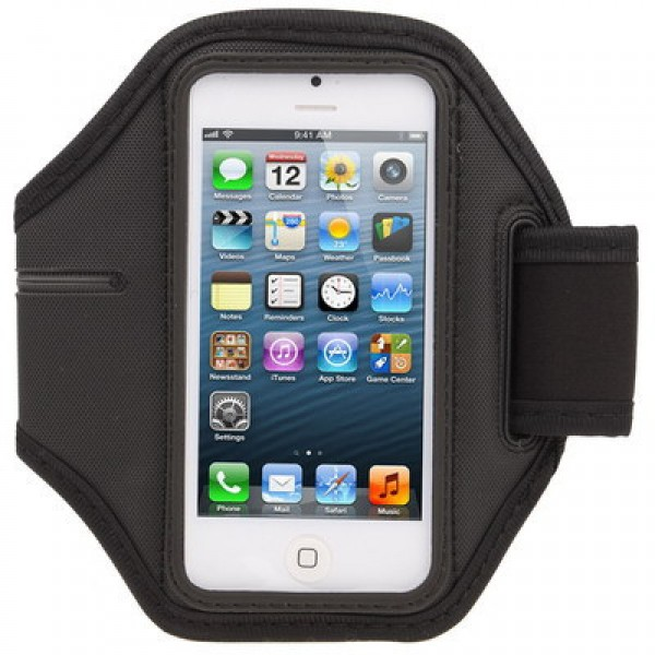 Dėklas ant rankos Apple iPhone 5G / 5 S Juodas
