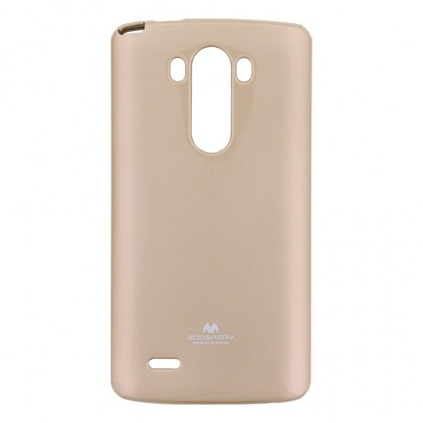 "Dėklas LG G3 D855 ""Jelly Case"" Auksinis"