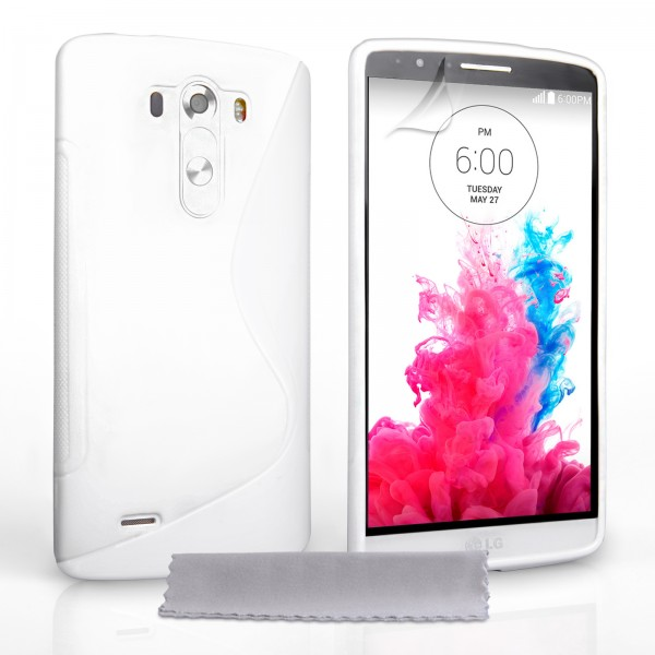 Guminis dėklas LG G3 D855 Baltas