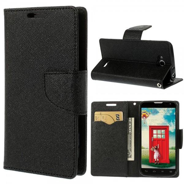 """Atverčiamas dėklas Samsung Galaxy Note 3 N9000 / N9005 """"Fancy Diary"""" Juodas"""