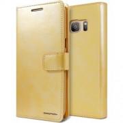 """Atverčiamas dėklas Samsung Galaxy S7 G930F """"Blue Moon Diary"""" Auksinis"""
