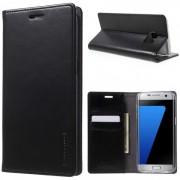 """Atverčiamas dėklas Samsung Galaxy S7 G930F """"Blue Moon Flip"""" Juodas"""