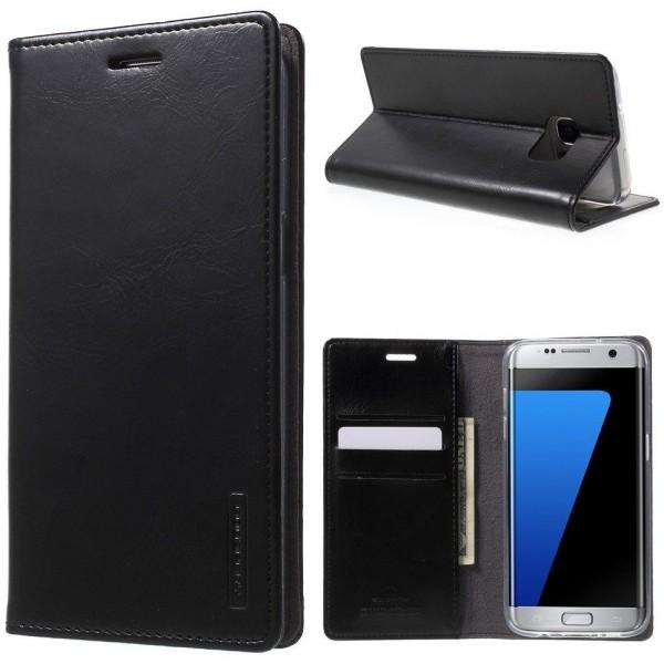 """Atverčiamas dėklas Samsung Galaxy A5 A500 """"Blue Moon Flip"""" Juodas"""