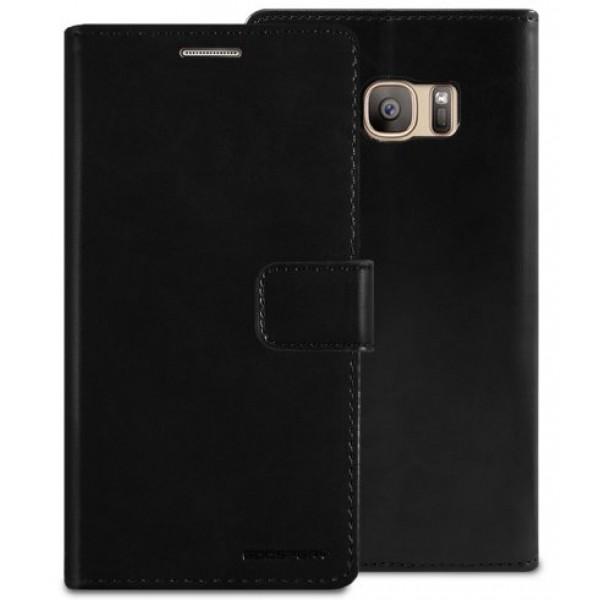 """Atverčiamas dėklas Samsung Galaxy S7 G930F """"Blue Moon Diary"""" Juodas"""