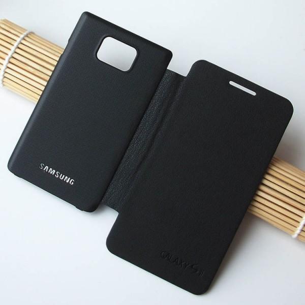 Atverčiamas dėklas Samsung Galaxy S2 i9100 (Flip Cover) Juodas