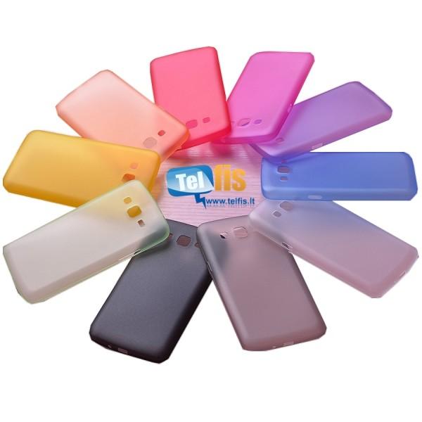 Plonas, plastikinis, apsauginis dėklas Samsung Galaxy S4 I9505 ĮVAIRIŲ SPALVŲ
