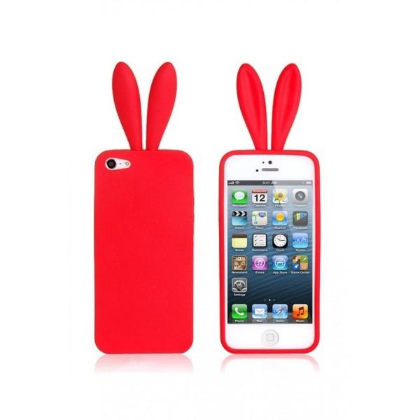"""Silikoninis dėklas """"Zuikis"""" Apple Iphone 6 / 6s Raudonas"""