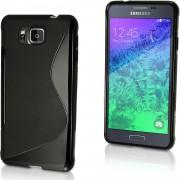 Guminis dėklas Samsung Galaxy Alpha G850F Juodas