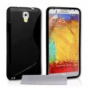 Guminis dėklas Samsung Galaxy Note 3 N9000 / N9005 Juodas