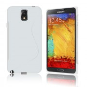 Guminis dėklas Samsung Galaxy Note 3 N9000 / N9005 Baltas