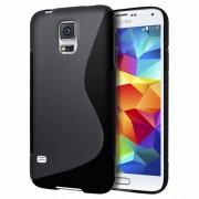 Guminis dėklas Samsung Galaxy S5 Mini G800 Juodas