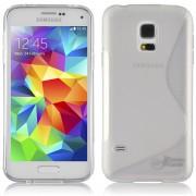 Guminis dėklas Samsung Galaxy S5 Mini G800 Permatomas
