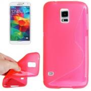Guminis dėklas Samsung Galaxy S5 Mini G800 Ružavas