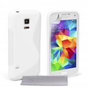 Guminis dėklas Samsung Galaxy S5 Mini G800 Baltas
