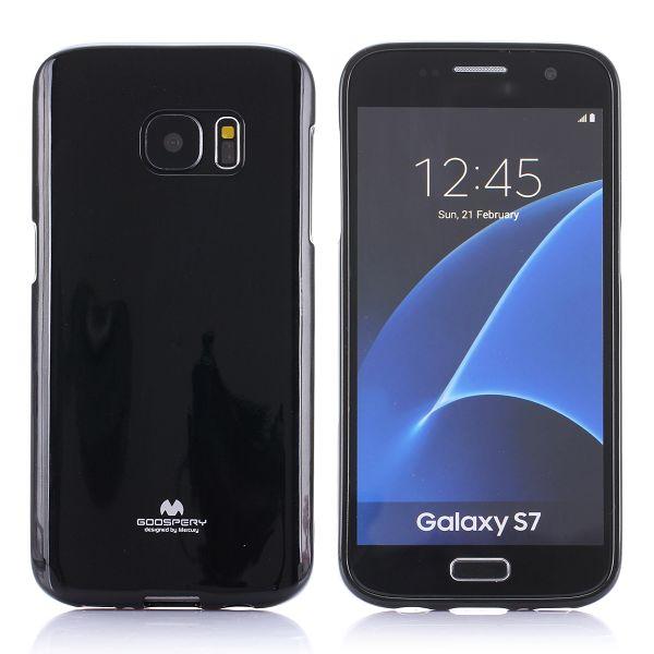 """Dėklas Samsung Galaxy S7 G930 """"Jelly Case"""" Juodas"""