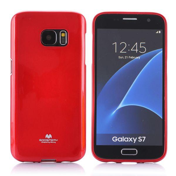 """Dėklas Samsung Galaxy S7 G930 """"Jelly Case"""" Raudonas - blizgus"""