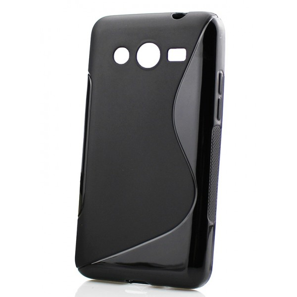 Guminis dėklas Samsung Galaxy Core 2 G355 Juodas