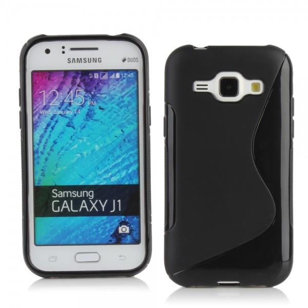 Guminis dėklas Samsung Galaxy J1 J100 Juodas