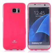 """Dėklas Samsung Galaxy S7 G930 """"Jelly Case"""" Ružavas - blizgus"""