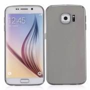 Permatomas juodas, minkštas dėklas Samsung Galaxy S6 Edge