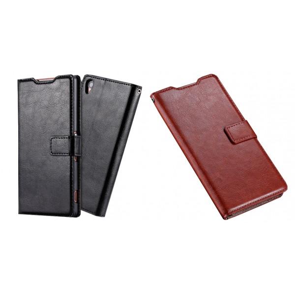 Atverčiamas dirbtinės odos dėklas Sony Xperia Z3 D6603 (Flip Cover)