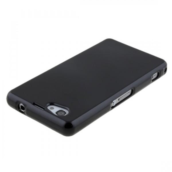 Silikoninis dėklas Sony Xperia Z1 Compact D5503 Juodas
