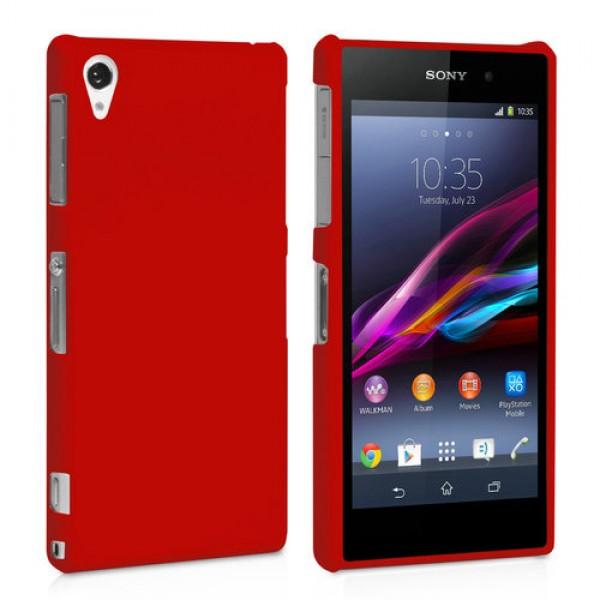 Guminis dėklas Sony Xperia Z1 C6903 Raudonas