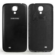 Galinis dangtelis Samsung Galaxy S4 i9505 / i9500 Juodas, odos imitacija HQ