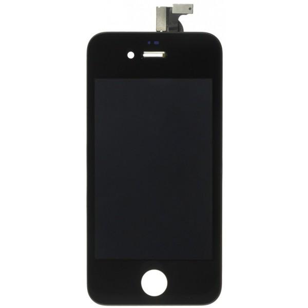 Ekranas Apple iPhone 4 su lietimui jautriu stikliuku juodas HQ