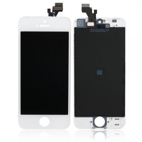 Ekranas Apple iPhone 5S su lietimui jautriu stikliuku baltas HQ