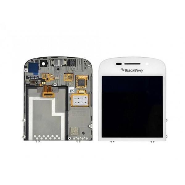 Ekranas BlackBerry Q10 su lietimui jautriu stikliuku naudotas originalus baltas