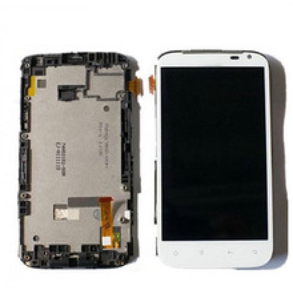 Ekranas HTC Sensation XL (G21) su lietimui jautriu stikliuku HQ baltas
