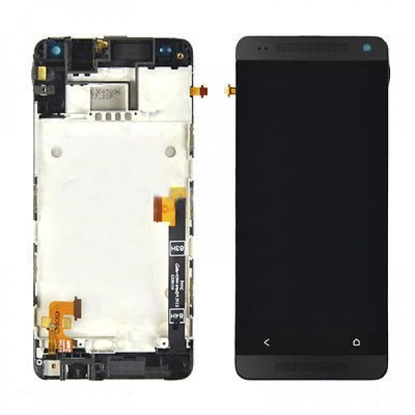 Ekranas HTC One Mini su lietimui jautriu stikliuku ir rėmeliu HQ juodas