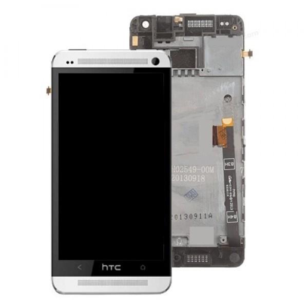 Ekranas HTC One Mini su lietimui jautriu stikliuku ir rėmeliu HQ baltas