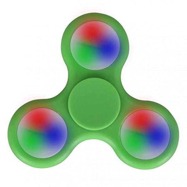Fidget Spinner LED šviečiantis suktukas Žalias